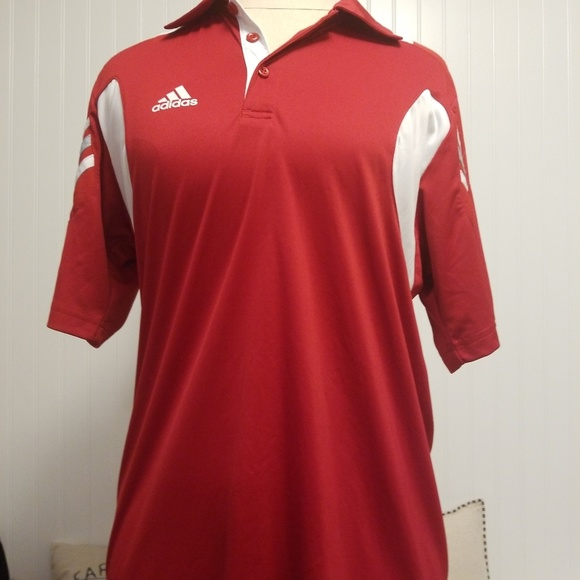 adidas Other - adidas scorch mens s polo red white climacool